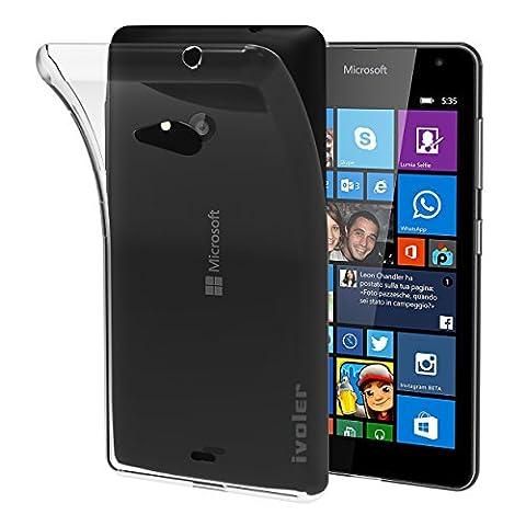 Nokia Lumia 630 / 635 Coque, iVoler [Liquid Crystal] Case Coque Housse Etui Ultra Hybrid TPU Silicone,[Extrêmement Mince Souple et Flexible] [Peau Transparente] [Shock-Absorption Bumper et Anti-Scratch Effacer Back] pour Nokia Lumia 630/635 (Bumper - HD Clair) -Garantie de Remplacement de 18 Mois