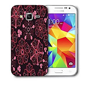 Snoogg Floral Red Printed Protective Phone Back Case Cover For Samsung Galaxy CORE PRIME