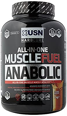 USN Muscle Fuel Anabolic Lean Muscle Gain Shake Powder, 4 kg by USN