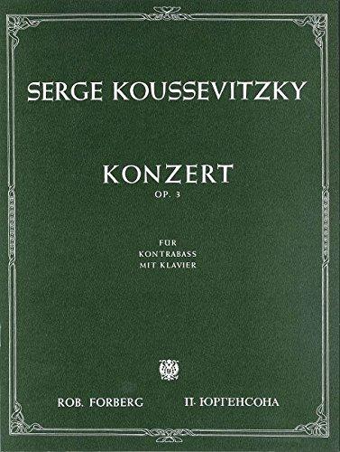 Konzert für Kontrabass und Orchester, op.3