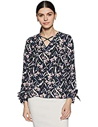 Symbol Amazon Brand Women's Floral Regular Fit Top