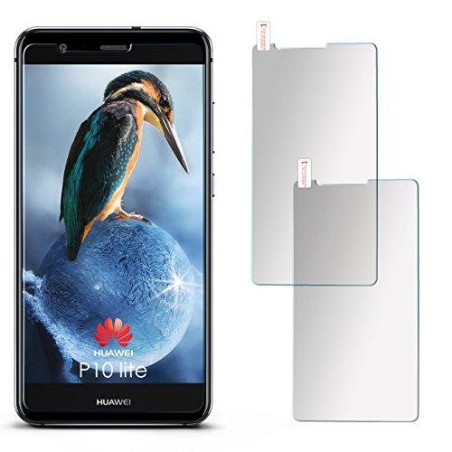 2X Huawei P10 Lite | Schutzfolie Matt Display Schutz [Anti-Reflex] Screen Protector Fingerprint Handy-Folie Matte Displayschutz-Folie für Huawei P10 Lite Displayfolie