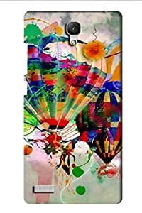 AMAN Drawing Parachute 3D Back Cover for Xiaomi Redmi Note Prime