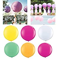 "99native@ Wedding party decorations latex balloons set,Party Balloons 36"" Rainbow Balloons Pack of Assorted Color Latex Balloons for Celebration Birthday Party, Wedding, Proposal, Anniversary"