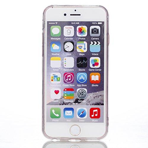 iPhone 6/6S Hülle, Voguecase Silikon Schutzhülle / Case / Cover / Hülle / TPU Gel Skin Handyhülle Premium Kratzfest TPU Durchsichtige Schutzhülle für Apple iPhone 6/6S 4.7(EPOXY-Pariser Turm 10) + Gra EPOXY-Goldene Grenze Rose