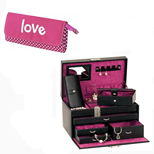 mele-co-large-black-pink-bonded-leather-jewellery-box-pink-faux-suede-love-clutch-bag