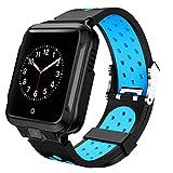 Fgyhty Compatible con la cámara Inteligente Android Reloj GPS Bluetooth WiFi 1000mAh Deporte SmartWatch los Hombres de la Correa de Silicona