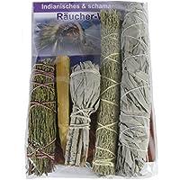 Indianisch Räuchern Smudge Stick Kräuterbündel 6er Set #81019 | White Sage/Salbei + Präriebeifuß + Zeder + Palo... preisvergleich bei billige-tabletten.eu