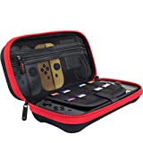 ButterFox Compact Case for Nintendo Switch, 9 Game Card Slots, Large Switch Accessories Pouch - Red/Black