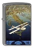 LEotiE SINCE 2004 Chrom Sturm Feuerzeug Benzin Bedruckt Flugzeug Flughafen Rundflug Italien