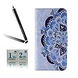 ARTLU® BQ Aquarius M5.0 Taschen Schalen PU Leder Tasche Schutzhülle Hülle Handy Etui Schale mit Ständerfunktion und Kreditkartenfächer für BQ Aquaris M5 (5.0 inches)A06