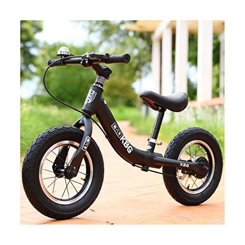 LIDU Balance Bike Kinder Pedalless Zwei-Rädern Schiebe Stepper Walker Kinderwagen (2~6 Years Old),Black