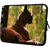 """Snoogg Dog Sitting 15"""" 15.5"""" 15.6"""" Inch Laptop Notebook Slipcase Sleeve Soft Case Carrying Case For Macbook Pro Acer Asus Dell Hp Sony Toshiba"""