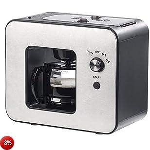 Rosenstein & Söhne caffè espresso: automatica Design di chicchi di caffè con macina, 800Watt (Macchina da caffè con macina caffè)