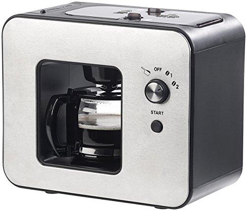 Kaffeemaschine Design (Rosenstein & Söhne Kaffeeautomat: Vollautomatische Design-Kaffeemaschine mit Bohnen-Mahlwerk, 800 Watt (Kaffee-Vollautomat))