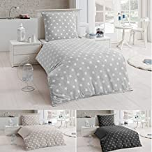 Superb Bettwäsche Microfaser Bettbezug 135x200 Sterne Kissenbezug Grau Taupe  Silber, Farbe:Silber Great Ideas