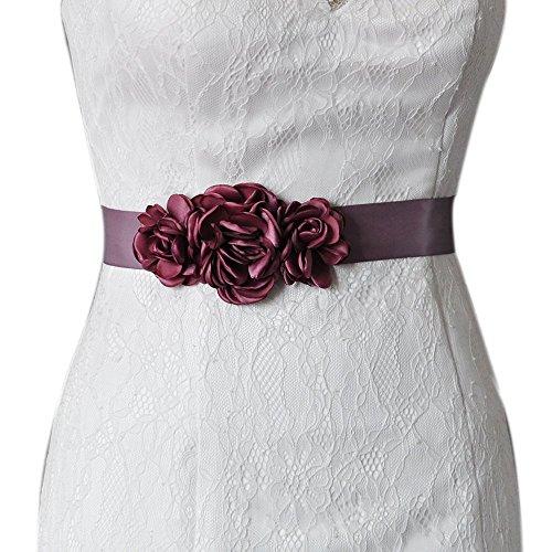 TOPQUEEN Correas de las mujeres de la correa de novia de flores de la boda de los marcos de guillotina para la boda