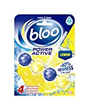 Bloo Power Activo Baño borde bloque, 50 g, limón, caso de 10
