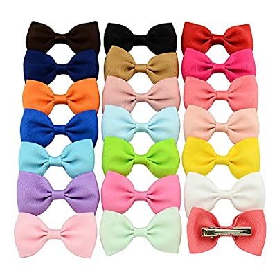 Dosige 20 Pcs Baby Girls Ribbon Hair Bow Clips Barrettes Grosgrain Headband, Random Color : everything 5 pounds (or less!)