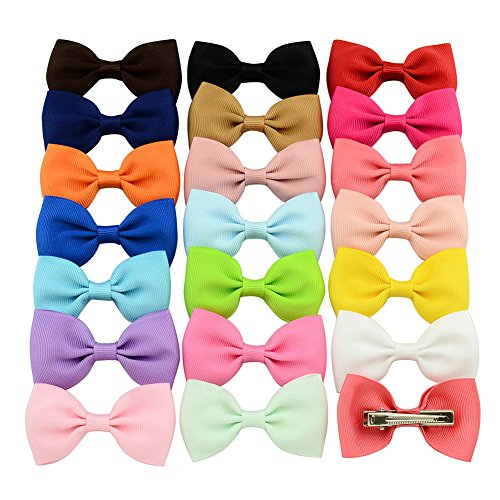 Namgiy Haar Clip Pin Mädchen Kinder Haar Clip Haar Bögen Clips Grosgrain Headbands Pure Color ()