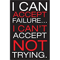 No Puedo Aceptar Motivational Inspirational Poster about éxito y fracaso Michael Jordan baloncesto Hero 24x 36