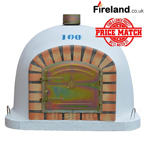 Outdoor Brick Wood Fired Pizza Oven 100 x 100 cm