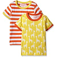 Toby Tiger Giraffe Pack, T-Shirt Bambino, (pacco da 2