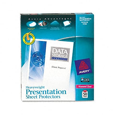 Top-Load Poly Sheet Protectors, Heavy Gauge, Letter, Diamond Clear, 50/Box