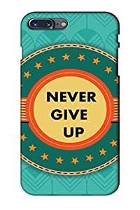 AMAN Never Give up & Design with Stars 3D Back Cover for Apple iPhone 7 Plus