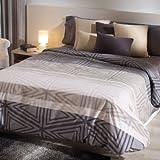 San Carlos Indian - Funda nórdica estampada juvenil, bajera ajustable y funda de almohada, fácil planchado, color gris