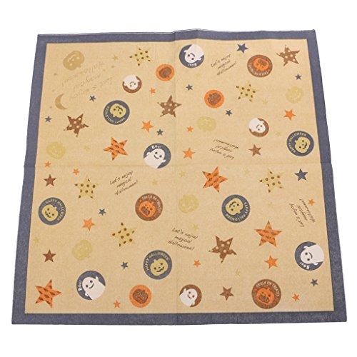 ervietten Papierservietten Tischdeko Besteck Geschirr Handtücher Set - 12pcs Set Kürbis Fledermaus, 16.5 x 16.5 cm (Halloween-papier-handtücher)