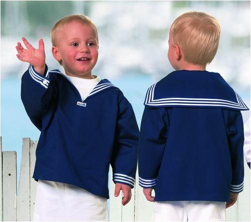 Blaues Kinder Matrosenhemd klassischer Stil von Modas Größe 92 (Baby Hamburger Kostüm)
