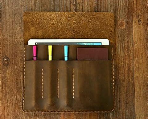 Personalized Retro distressed leather iPad Pro 9.7 case portfolio bags sleeve / Leather iPad Air 2 case portfolio -