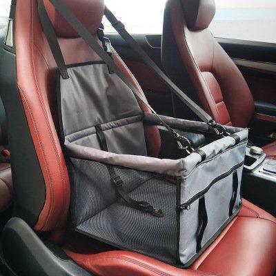Haustier Autositzträger - Auto Booster tragbare und atmungsaktive Tasche für Hund Katze bis zu 25LB (Grau)