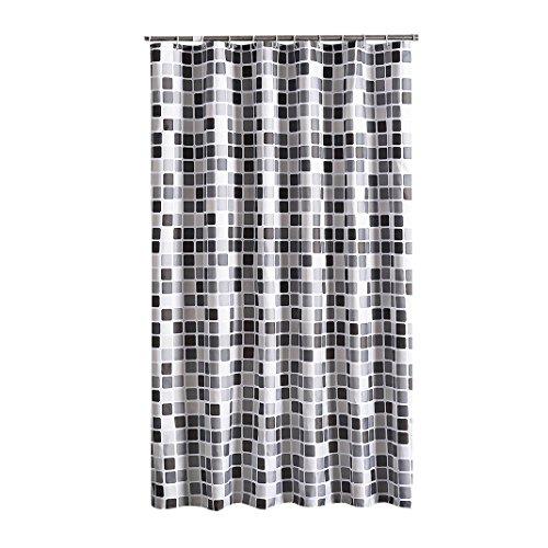 Duschvorhang 200x220 cm (BxH), Rosa Schleife Anti-Schimmel Anti-Bakteriell Wasserabweisender Shower Curtains Liner weichem Polyestergewebe Bath Curtains Vorhang aus Schöne Muster für Badezimmer WC - Klar Dusche Vorhang Liner