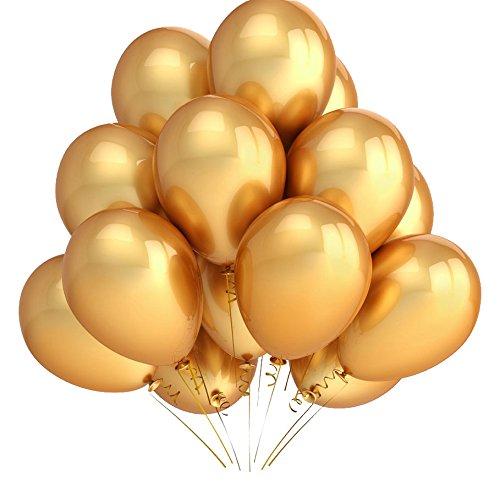 s metallic gold Helium Ballons für Hochzeit Partydeko Geburtstag - Gold (Gold Helium-ballons)