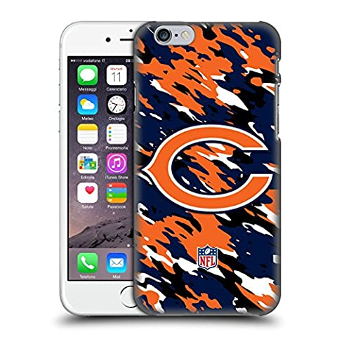 Official NFL Camou Chicago Bears Logo Hard Back Case for Apple iPhone 6 / 6s