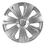 CM DESIGN 15 Zoll Radkappen Energie (Silber) passend für Fast alle Fahrzeugtypen