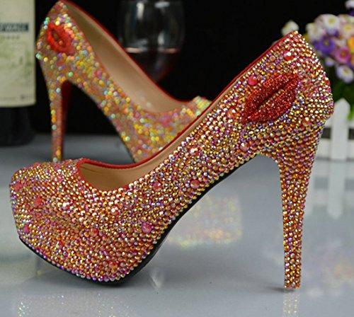 TDA , Semelle compensée femme 12cm Heel Red