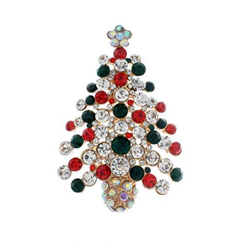 Kreativ Weihnachtsbaum Form Legierung Broschen Zubehör Kleidung Dekoration Schmuck Brooch Weihnachten Geschenk (Weihnachtsbaum Kostüme Für Erwachsene)