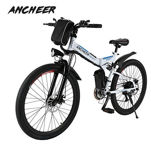 Ancheer Vélo Electrique 26' e-Bike VTT Pliant 36V 250W Batterie au Lithium de Grande Capacité et...