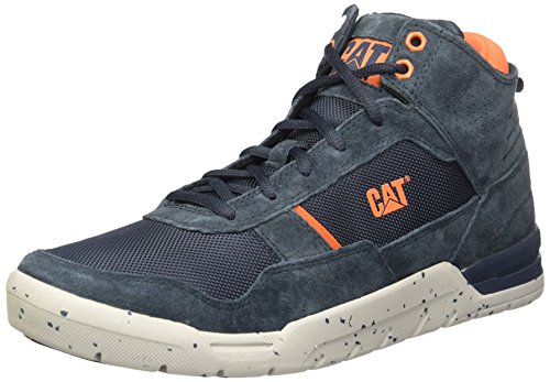 Cat Men's Chasm Mid Midnight Shag Leather Sneakers - 9 UK/India (43 EU)