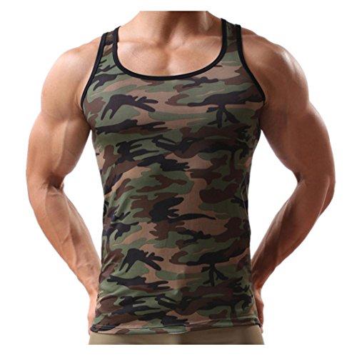 KEERADS Herren Tanktop Tank Top Tankshirt T-Shirt mit Print Unterhemden Ärmellos Weste Muskelshirt Fitness