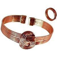The Online Bazaar magnet kupfer Knoten Armband und Geätzten Gefütterte finish Magnet Kupfer ring Kombi Geschenkset... preisvergleich bei billige-tabletten.eu