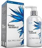 InstaNatural Savon antifongique à l'huile d'arbre à thé - Gel douche contre l'acné, les mauvaises odeurs, les bactéries, les mycoses des ongles et du pied, la teigne et l'eczéma - meilleur soin hydratant pour peaux sèches avec démangeaisons et irritées -
