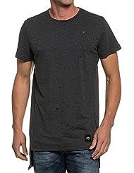 Sixth June - T-shirt homme gris foncé oversize troué