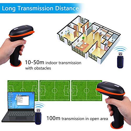 Tera Barcode Scanner Wireless Versatile 2-in-1 (2 4Ghz