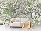 BHXINGMU Benutzerdefinierte Wandgemälde Schlafzimmer Tv Wohnzimmer Wohnzimmer Hintergrund Paris Karte Große Kunstwanddekoration 320Cm(H)×450Cm(W)