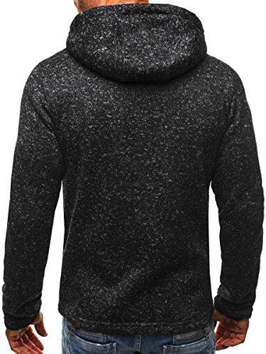 Minetom Uomo Felpa Con Cappuccio Hoodies Hooded Sweatshirt Manica Lunga Cappotto Giacca Felpe Tops Outwear Inverno Colori A Contrasto A Grigio Scuro