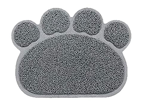 Crasy Shop Cute Paw Shape Waterproof Non-slip Pet Food Feeding Mat Bowl Place Mat for Dog Cat Puppy Kitten-12x16 Inches
